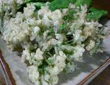 ニラの花の天ぷら