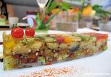 夏野菜のクレヨンテリーヌ フロマージュブランソース