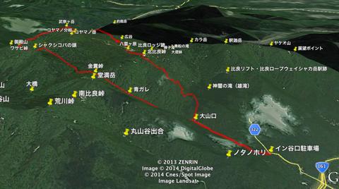 武奈ヶ岳トレイルラン_google3d