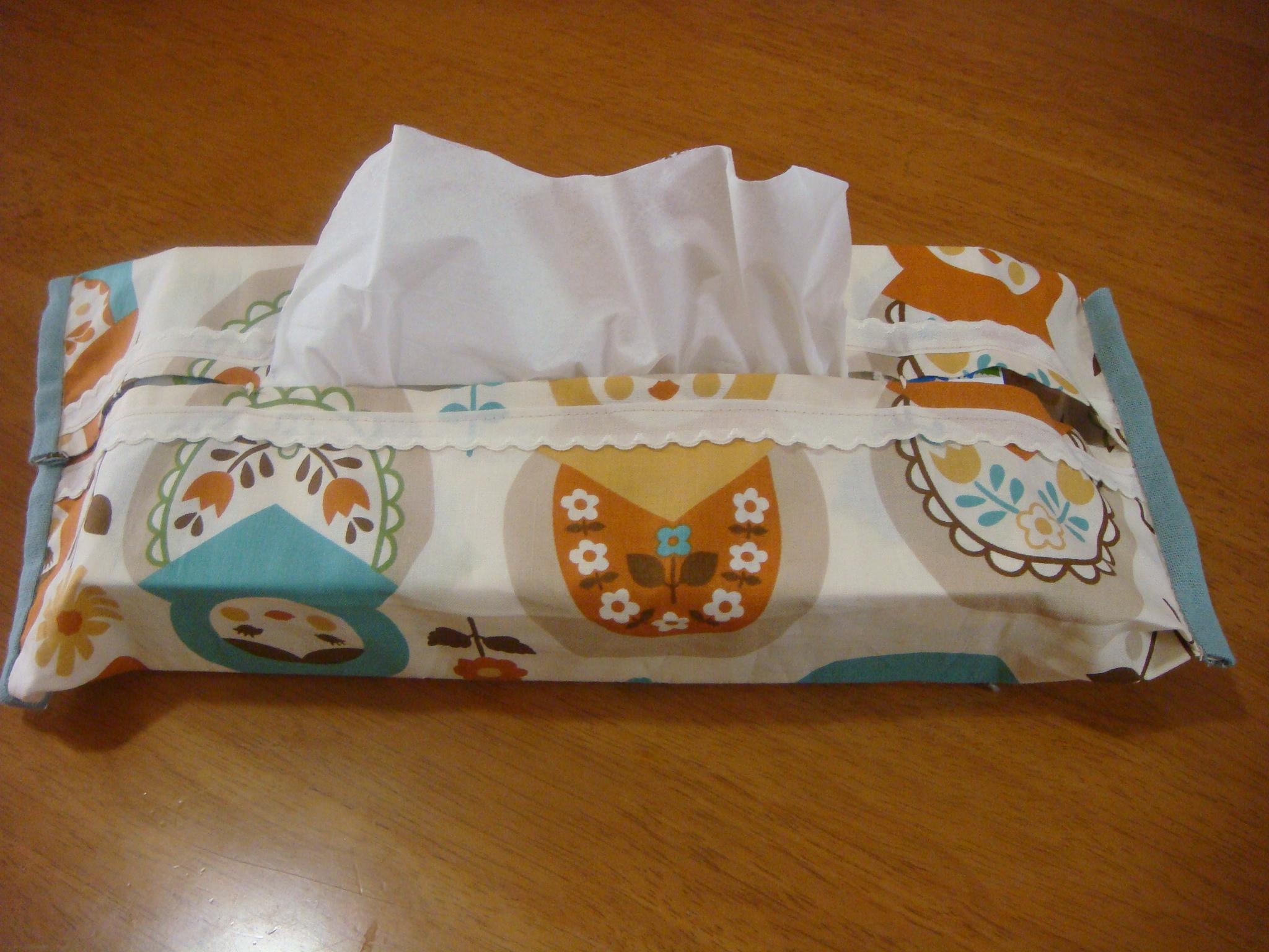 カバー ティッシュ 布 作り方 ボックス ハーフティッシュボックスの作り方(手作り)