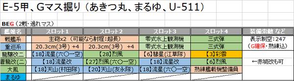 E5掘り_編成