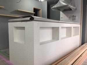 モザイクタイルのキッチンカウンター