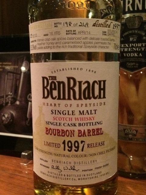 ベンリアック 16年 1997-2014 バーボンバレル #85105 ブラインド