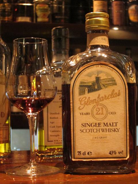 グレンファークラス 21年 角瓶 1980年代後期流通 43%