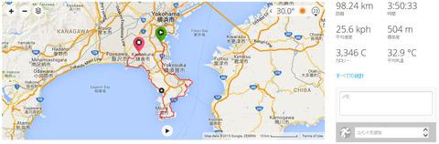 休日サイクリングコース@三浦半島周回・一筆書き