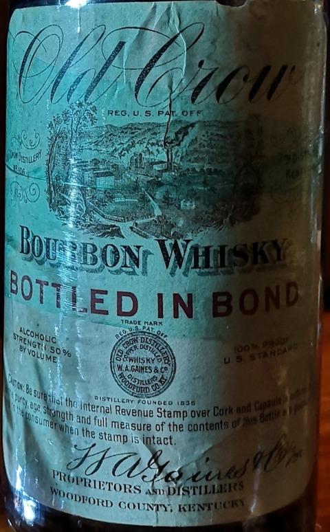 オールドクロウ 1912年蒸留 100プルーフ 禁酒法前