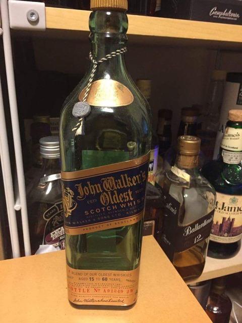 ジョニーウォーカー オールデスト 15-60年表記 初期ボトル