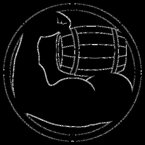 グレンマッスルロゴベース(白・透過色指定r)