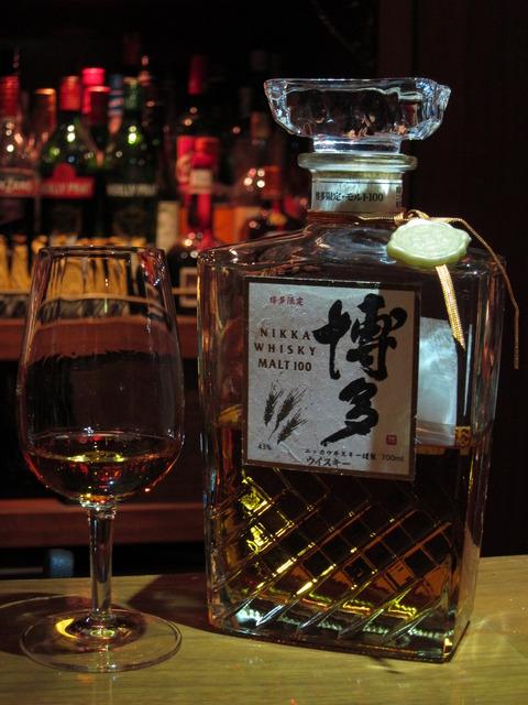 ニッカウイスキー 博多 モルト100%ウイスキー 43%
