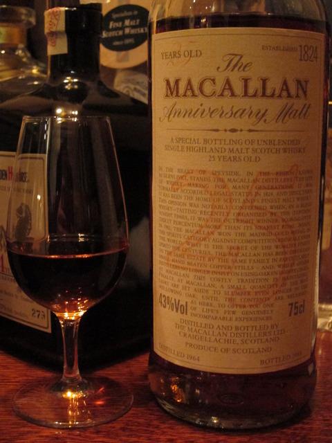 マッカラン 25年 1964-1989 アニバーサリーモルト 43%