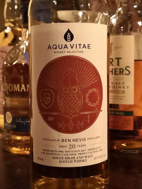 ベンネヴィス 20年 1996-2017 AQUA VITAE #2028 50.6%