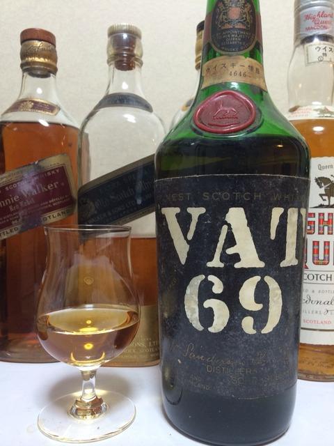 """VAT69 1970年代初期流通 """"ウイスキー特級"""" JAPANTAX 協和発酵取扱い"""