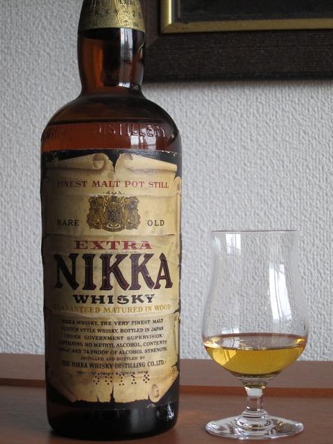 ニッカウイスキー 丸壜ニッカ エキストラ 1960年代流通 2級表記
