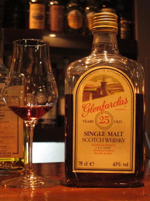 グレンファークラス 25年 43% 角瓶 1980年代後期流通