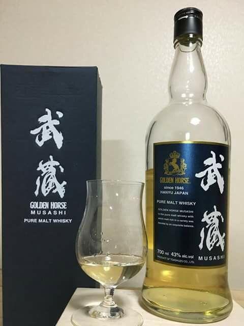 ゴールデンホース 武蔵 ピュアモルト 43% 2016年リリース 東亜酒造