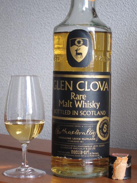 グレンクローヴァ 5年 モルトウイスキー 43% 1980年代流通 マッキンレーズ