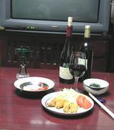 �−ボジョレーワインで夕食