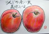 2ー絵手紙リンゴ.JPG