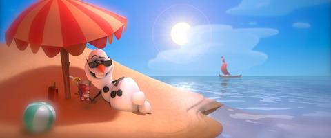オラフin summer