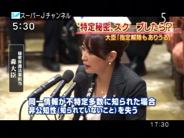 PDVD_001 素直に見る世の中。:森雅子大臣の答弁に、小野寺五典防衛相は百面相。大丈夫??こ