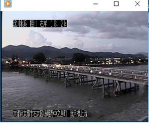 7月10日 19:37 渡月橋
