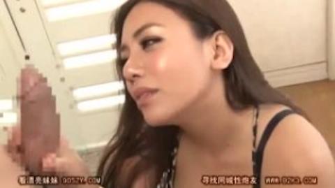 【松本メイ】デカチンにうっとりする変態ギャル人妻のフェラチオで大量口内射精【AV女優】