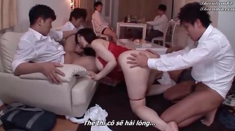 【沖田杏梨】男子生徒に飼育調教される爆乳女教師の乱交セックス