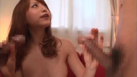 【吉沢明歩】アヒル口がエロかわゆい巨乳茶髪ギャルに連続顔射する3P乱交セックス!