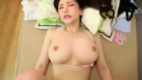 【沖田杏梨】爆乳美人の乳揺れがくっそエロい主観セックスにボッキ不可避www
