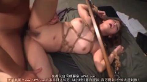 【友田彩也香】巨乳ギャルを緊縛ギロチン拘束して大量中出しする調教セックスが鬼畜www