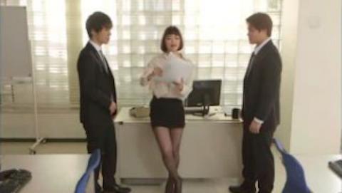 【水城奈緒】巨乳キャリアウーマンと部下社員の3P乱交があの芸能人にしか見えない件www