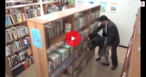 【佳苗るか】図書室で声を押し殺しながら立ちバックで犯される制服女子高生【AV女優】