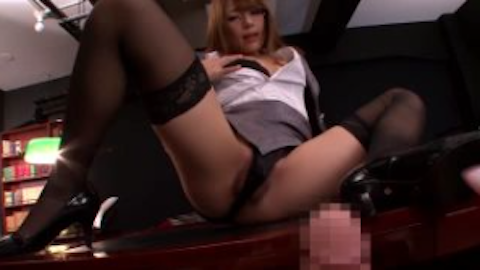 【Rio柚木ティナ】黒タイツが美女眼鏡秘書と社内で大量顔射セックス【AV女優】
