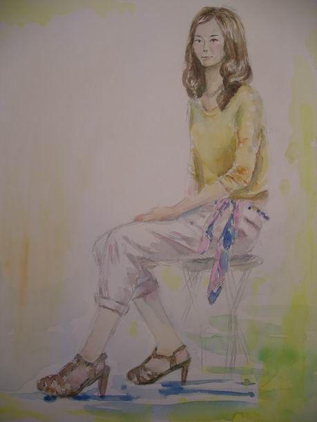 ミケランジェロで着衣の女性を描きました♪ & フェイスブックはじめて英語かぶれに