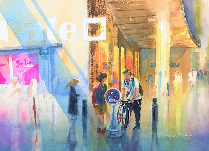 透明水彩画#10「雨上がり」完成