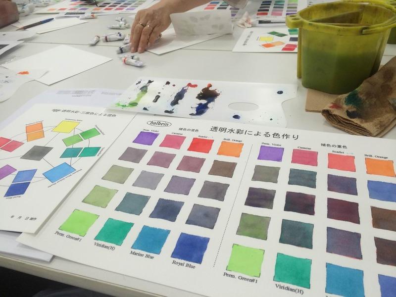"""ホルベインカラーコンシェルジュによる""""色のつくりかた""""講座に行ってきました☆"""