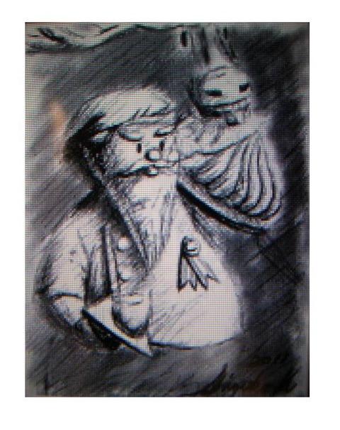 NINTENDO DS 「絵心教室DS」で描いてみました♪~ちょっとシュールな肖像画~