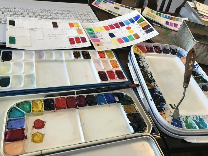 透明水彩パレットを整理する!!【I organized my palette.】