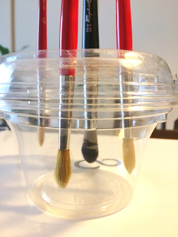 """水彩筆を長持ちさせる""""逆さま筆乾燥器""""開発日誌☆一日で一気に進化(笑)の巻"""