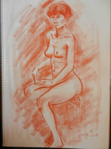 """裸婦描画教室は最後の日&絵画サークルのお題は""""想定外?""""の巻"""