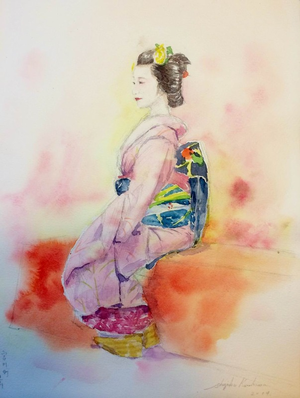 """""""京都画材祭り2014""""で舞妓さんスケッチ会に参加しました♪"""