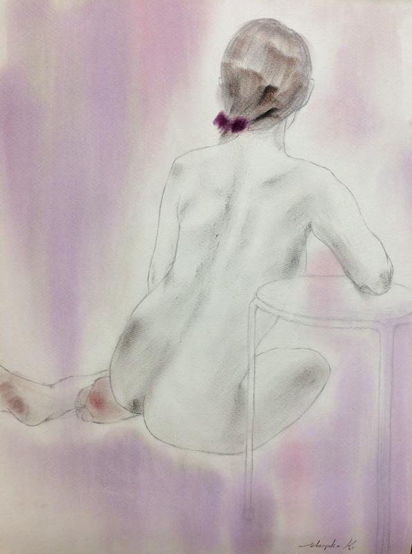 盆休み明けの人物画教室(裸婦)&独りでお先に「秋の交通安全運動」!