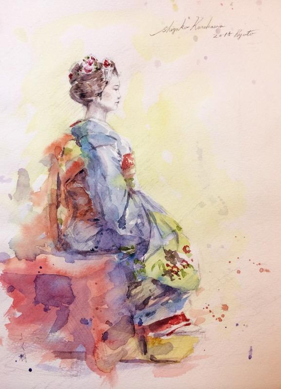 もういい加減に10月の画材祭り「舞妓さんスケッチ」をアップ(大汗)