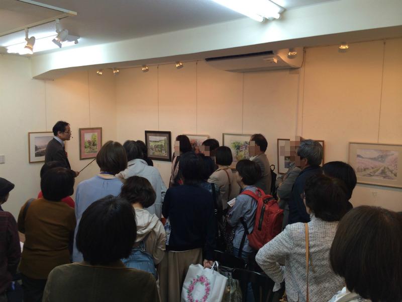 第五回水彩くらぶ大阪作品展 17日は受付と午後・体験コーナーの当番しています