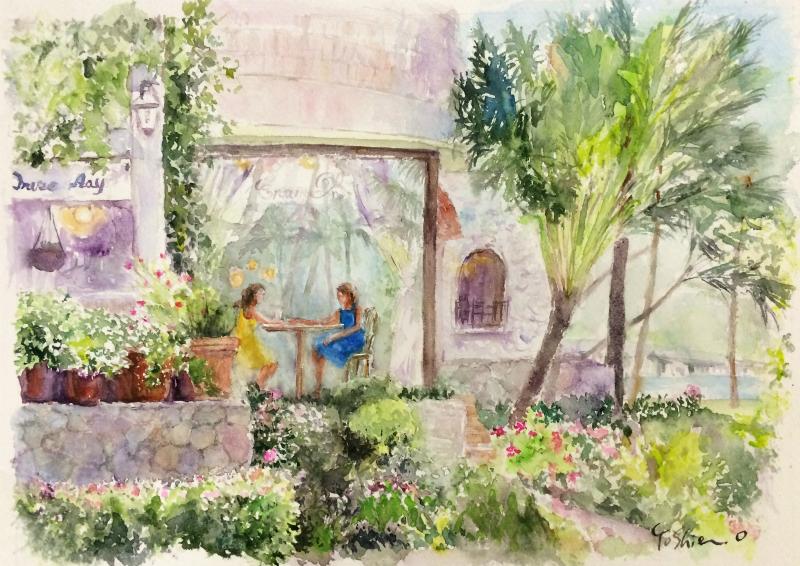 くろかわ透明水彩画教室 「ハワイの風景(仮題)」&今年は完璧ひな祭り