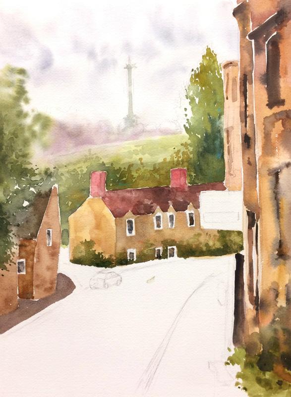 23ならざき講座課題「オックスフォードの風景」14回目途中 (1)