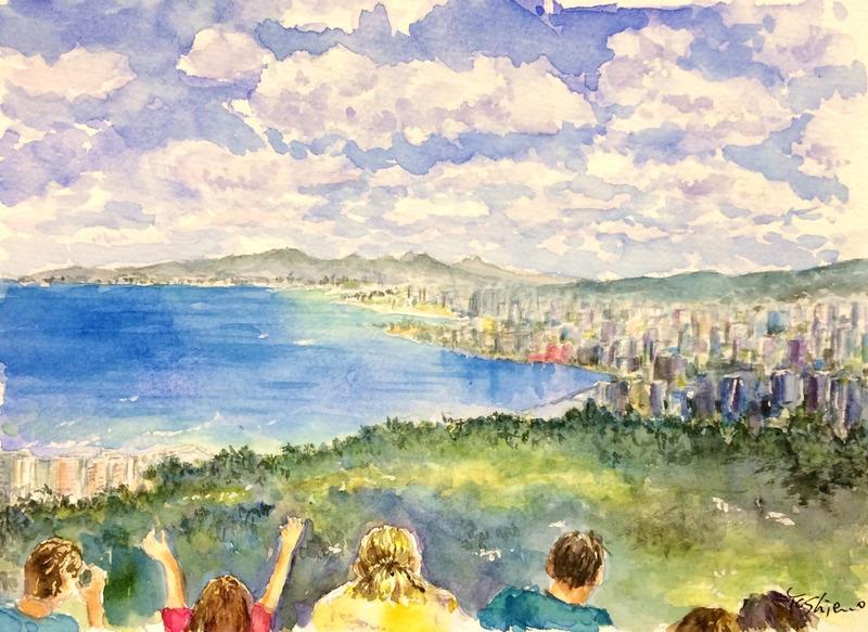 25OYさん透明水彩画作品「ハワイ」