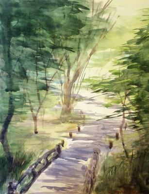 02watercolor sketch「京都府立植物園にて」