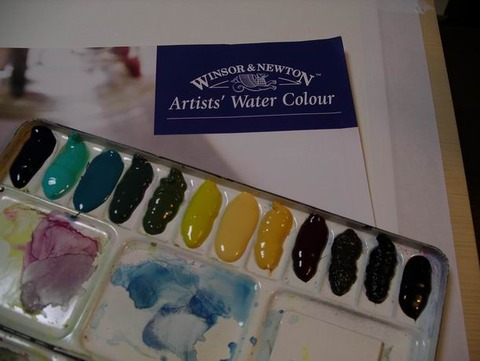 衝動買い!ウィンザーニュートン透明水彩絵具を初購入♪&はじめての水張り♪