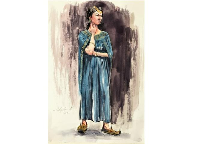 地元人物デッサン会「民族衣装の女性」・・・また、がんばります